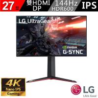 【LG 樂金】27型 IPS 4K 144Hz 支援HDR600 21:9 專業電競螢幕(27GN950-B)