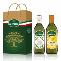 【Olitalia 奧利塔】特級初榨橄欖油+頂級芥花油禮盒組(750mlx2瓶)
