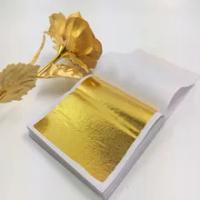 100Pcs 9X9เงินทองเลียนแบบกระดาษฟอยล์ใบแผ่น Gilding หัตถกรรม DIY กระดาษตกแต่งทอง leaf ตกแต่งบ้าน