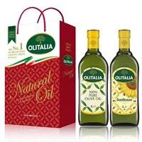 【Olitalia奧利塔】純橄欖油+葵花油禮盒組(1000mlx2瓶)