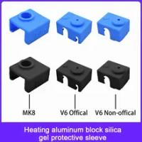 Hàng Mới Về Nóng Khối Bảo Vệ Silicone Sock Cách Nhiệt Cover Dành Cho E3D PT100 V6 MK7 MK8 MK9 MK10 3D Máy In một Phần