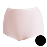 【華歌爾】新伴蒂內褲M-3L高腰三角款(經典黑)