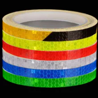 1CM*8M Bicycle Wheels Reflect Fluorescent MTB Bike Reflective Sticker Strip Tape For Cycling Warning Safety Bicycle Wheel Decor