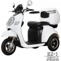 【JEMA 捷馬科技】EX-1 48V鉛酸 LED天使光圈 液壓減震(三輪車 單座 電動車 - 白)