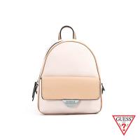 【GUESS】女包-簡約素面雙色後背包-米白(VY754230SML)