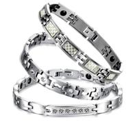 【I.Dear Jewelry】時尚純鈦鋼晶鑽磁鍺能量手鍊(8款選)