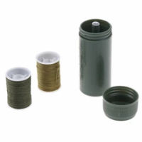 1Pc Miniเข็มจักรเย็บผ้ากล่องชุดกองทัพสีเขียวแบบพกพาเย็บชุดเย็บชุดกระบอกกระเป๋าเดินทางแบบพกพ...