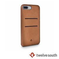 【Twelve South】Relaxed Leather iPhone 7 Plus 卡夾皮革保護背蓋(干邑棕)