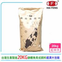 【海豐飼料】Alife愛鯉系列錦鯉飼料20kg紅中大粒T335K(適合各種錦鯉、中大型金魚食用)