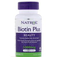 現貨【美國直送】Natrol Biotin Plus 生物素 5000mcg 60片 含葉黃素 biotin plus