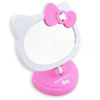 小禮堂 Hello Kitty LED造型桌鏡(粉.大臉.盒裝)化妝鏡