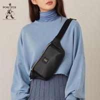 【PORTER INTERNATIONAL】SHEER簡約中性腰包(黑)