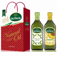 【Olitalia奧利塔】精緻橄欖油+葵花油禮盒組(1000mlx2瓶)