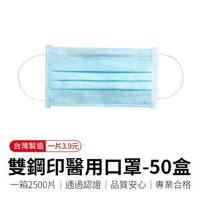【順易利】「50盒」雙鋼印醫療級平面口罩-提姆藍(雙鋼印醫用口罩)