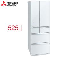 【送±0循環扇】Mitsubishi 三菱 MR-WX53C-W-C 變頻六門電冰箱 525L  玻璃鏡面 日本原裝 (水晶白)