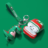 airpods保護套恐龍蘋果無線藍芽耳機套airpods2代保護殼潮ipod可愛airpod充電盒子