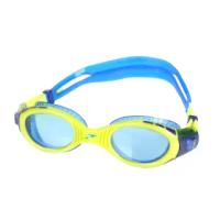 【SPEEDO】兒童運動泳鏡-抗UV 防霧 蛙鏡 游泳 訓練 萊姆綠藍(SD811595C585N)