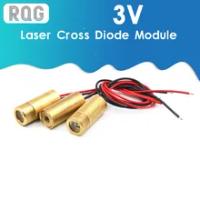 Đầu Laser 650nm 9Mm 3V 50MW Laser Đeo Chéo Diode Module Đồng Đỏ Đầu