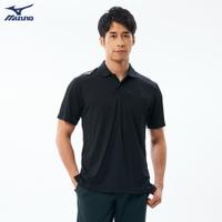 男款短袖POLO衫 32TA002009(黑)【美津濃MIZUNO】