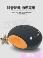 無線滑鼠 可愛女生無線滑鼠可充電靜音適用蘋果小米華碩聯想惠普三星筆記本