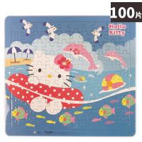 HELLO KITTY 100片拼圖 水上遊樂園 C678043 /一個入(促120) Kitty拼圖 凱蒂貓拼圖 三麗鷗 KT 幼兒卡通拼圖 正版授權 MIT製