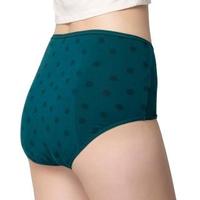 【Wacoal 華歌爾】夜間 M-LL 中腰三角生理褲-透氣包臀-舒適好動-NS3549(藍綠)