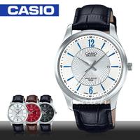 【CASIO 卡西歐】人氣首選_簡約皮革指針型男錶(BEM-151L)
