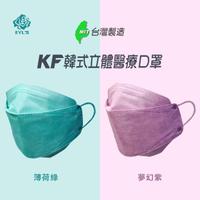 【艾爾絲】3D醫用口罩 KF立體口罩 夢幻色系(10入/雙鋼印/醫療級口罩/夢幻紫、薄荷綠)