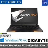 【GIGABYTE 技嘉】AORUS 17X YD 17.3吋專業電競筆電(i9-11980HK/RTX3080/64G/512GB+1T SSD/Win10P)