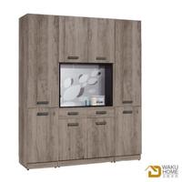 【德泰傢俱】Dean工業風 5.3尺玄關木面雙面組合鞋櫃 A023-B341-01+02x2