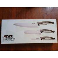 美亞刀具組 MEYER萬用廚刀三件組 主廚刀 萬用刀 三德刀 安麗贈刀