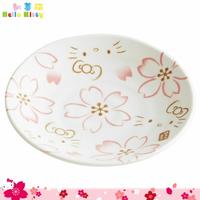 SKATER 三麗鷗 凱蒂貓 Hello Kitty 陶瓷小皿 陶瓷盤 小盤手繪櫻花 日本進口正版 313226