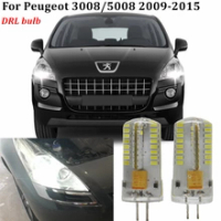G4 3014หลอดไฟLED HP24W 6216F6 LEDกลางวันไฟวิ่งDRLหลอดไฟสำหรับ2009 + Peugeot 3008 2008 5008 Led drlไฟอุปกรณ์เสริม