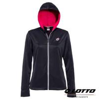 義大利第一品牌-LOTTO樂得 女款抗UV防風運動針織外套 [63980] 深灰藍【巷子屋】