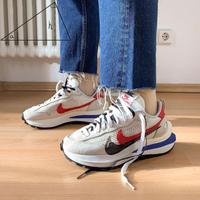 Sacai x Nike Vaporwaffle 聯名 解構 白色 白藍紅 男女鞋 CV1363-100