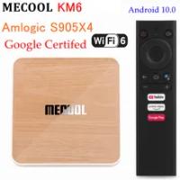 10PCS Mecool KM6 Deluxe ATV TV Box Android 10.0 Amlogic S905X4 4GB 64GB Dual Wifi 6 BT 5.0 1000M Google Certified Media Player