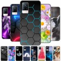 For Vivo V21 5G Case V 21 Silicon Back Cover Phone Case for Vivo V2050 VivoV21 5G Cases Soft bumper coque for Vivo V21 5G Fundas