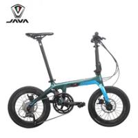 JAVA Folding Bike 16 inch X1 J.AIR Carbon Fiber Folding Bicycle 18 Speed Hydraulic Disc Brake Men Women Leisure Bike Cycling