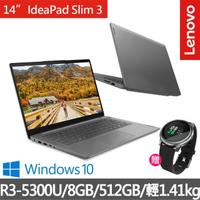 【Lenovo 送智慧手錶】IdeaPad Slim 3 14吋輕薄筆電 82KT001JTW(R3-5300U/8GB/512GB/W10H)