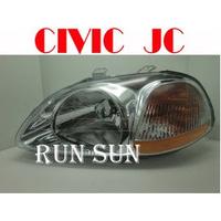 ●○RUN SUN 車燈,車材○● 全新 本田 96 97 98 K8 六代喜美 JC 原廠型大燈TYC 一顆1100