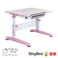 【SingBee 欣美】Hello Kitty-手搖L桌(兒童書桌椅/可升降桌椅/兒童桌椅/台灣製書桌)