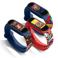 小米手環 4 5 6 錶帶 印花卡通矽膠腕帶 防水親膚 柔軟舒適 小米手環NFC版 小米潮牌聯名運動錶帶