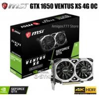 MSI GeForce GTX 1650 VENTUS XS 4G OC Graphics card 1740MHz 128bit PCI Express 3.0 16X Dual fan cooling GeForce GTX 1650 Card
