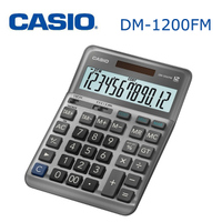 CASIO 卡西歐 DM-1200FM 商用專業計算機 12位數 獨立記憶 稅金/利率計算 雙電力 原廠保固