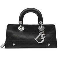 【Dior 迪奧】經典CHRISTIAN DIOR 手提包(黑色)