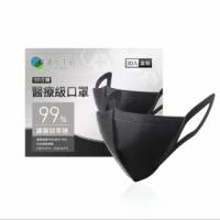 【德克生活】立體醫療級4層口罩(黑色30入)