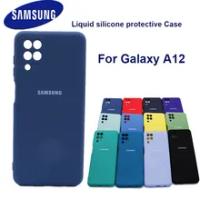 For Samsung Galaxy A12 Case For Samsung A12 Cover soft Liquid Silicone Phone Case For Samsung Galaxy a12 case