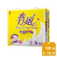 【春風】3層厚手新肌感抽取式衛生紙-100抽*10包*7串