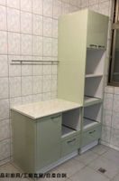廚房收納櫃/廚具/廚櫃/流理台/收納櫃     總長95公分外加電器櫃60公分  保固一年 另有販售油煙機.瓦斯爐.烘碗機及五金配備