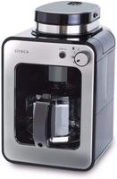 【日本代購】SIROCA 全自動咖啡機 搭載新刀片 [支持冰咖啡/靜音/小巧/牛奶2級/豆・粉兩者適用 SC-A211 銀色